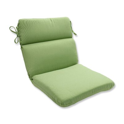 Tweed Outdoor Dining Chair Cushion Color: Lime