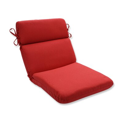 Tweed Outdoor Dining Chair Cushion Color: Red
