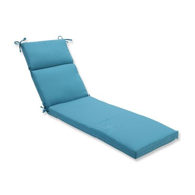 Tweed Outdoor Chaise Lounge Cushion Color: Aqua