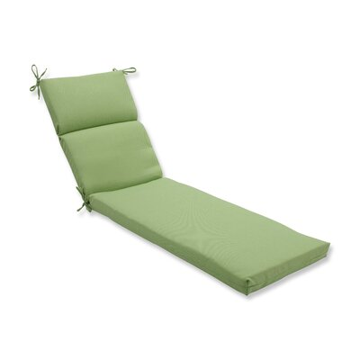 Tweed Outdoor Chaise Lounge Cushion Color: Lime