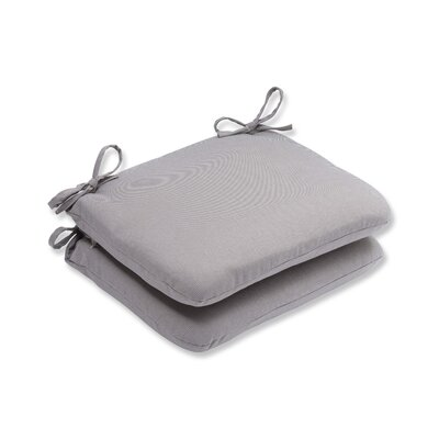 Tweed Outdoor Dining Chair Cushion Color: Gray