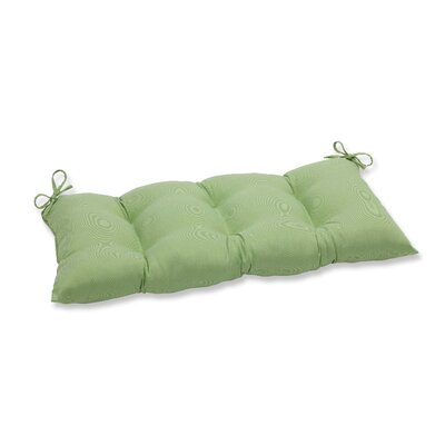 Tweed Outdoor Loveseat Cushion Color: Lime