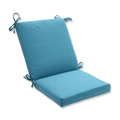 Tweed Dining Chair Cushion Color: Aqua