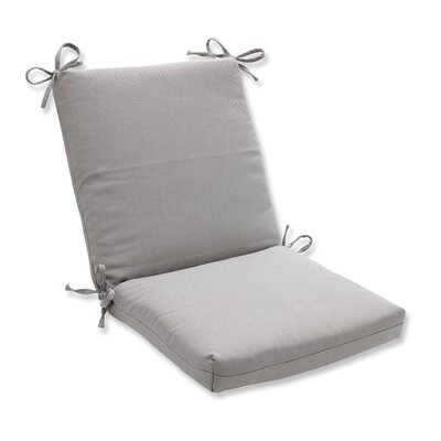 Tweed Dining Chair Cushion Color: Gray