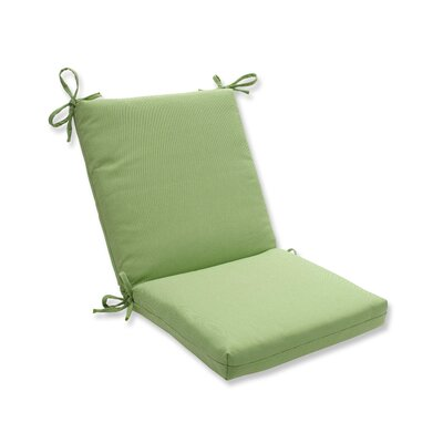 Tweed Dining Chair Cushion Color: Lime