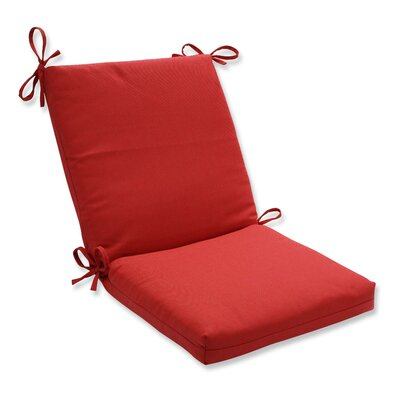 Tweed Dining Chair Cushion Color: Red
