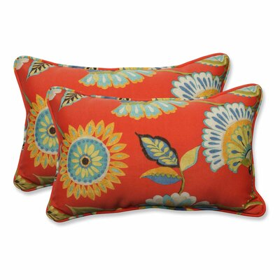 Woodcourt Indoor/Outdoor Lumbar Pillow Color: Pompeii, Size: 11.5 H x 18.5 W