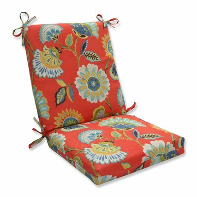 Woodcourt Outdoor Dining Chair Cushion Color: Pompeii