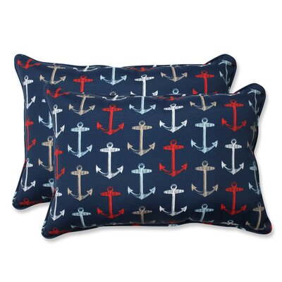 Anchor Allover Indoor/Outdoor Lumbar Pillow