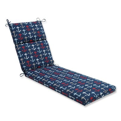 Anchor Allover Outdoor Chaise Lounge Cushion