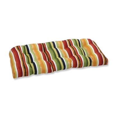 Dina Noir Outdoor Love Seat Cushion