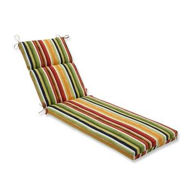 Dina Noir Outdoor Chaise Lounge Cushion