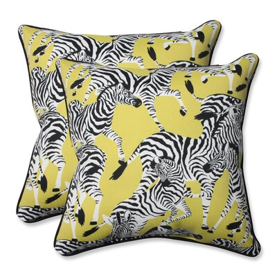 Herd Together Wasabi Indoor/Outdoor Throw Pillow