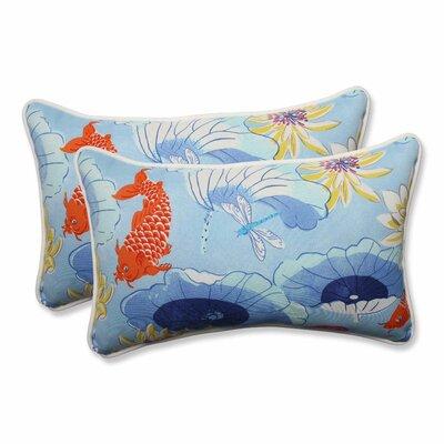 Lotus Lake Indoor/Outdoor Lumbar Pillow