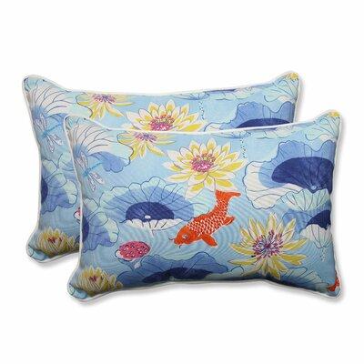 Lotus Lake Cobalt Indoor/Outdoor Throw Pillow