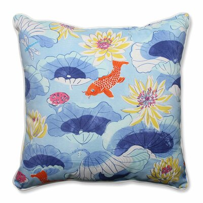 Lotus Lake Cobalt Indoor/Outdoor Floor Pillow