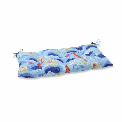 Lotus Lake Cobalt Outdoor Love Seat Cushion