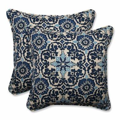 Woodblock Indoor/Outdoor Throw Pillow