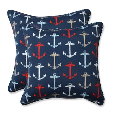 Anchor Allover Indoor/Outdoor Throw Pillow