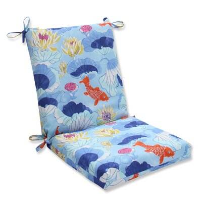 Lotus Lake Cobalt Outdoor Dining Chair Cushion