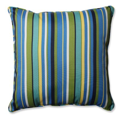 Topanga Stripe Lagoon Outdoor/Indoor Throw Pillow