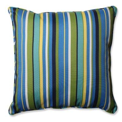 Topanga Stripe Lagoon Outdoor/Indoor Throw Pillow