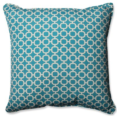 Hockley Outdoor/Indoor Throw Pillow Color: Teal