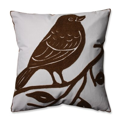 Bluebird Throw Pillow Color: Brown