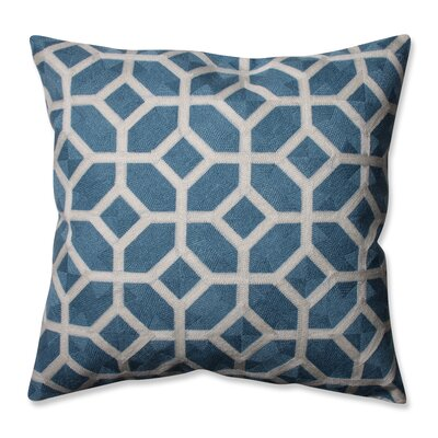 Throw Pillow Color: Cerulean