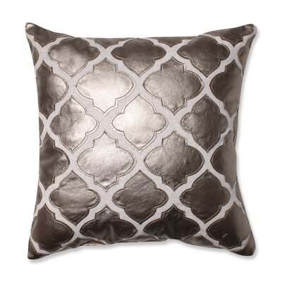 Yvonne Throw Pillow Color: Metal