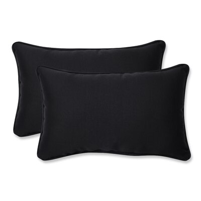 Claiborne Corded Indoor/Outdoor Lumbar Pillow Size: 5 H x 11.5 W x 18.5 D, Color: Black