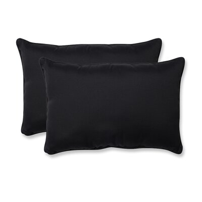 Claiborne Corded Indoor/Outdoor Lumbar Pillow Size: 5 H x 16.5 W x 24.5 D, Color: Black