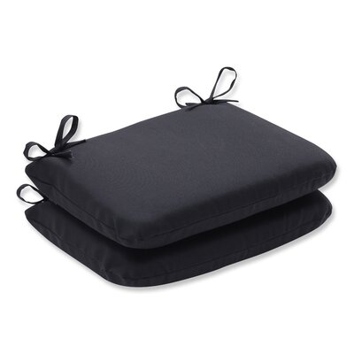 Fresco Outdoor Seat Cushion Color: Black