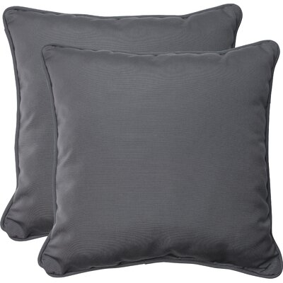 Indoor/Outdoor Sunbrella Throw Pillow Fabric: Charcoal