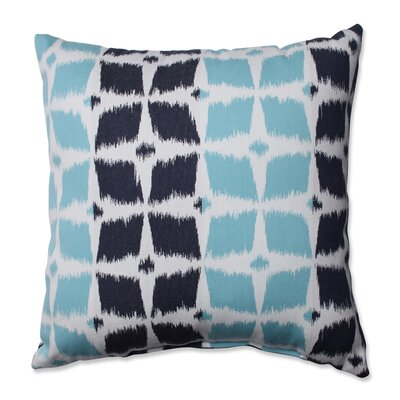 Neo Motif Aqua Throw Pillow Size: 16.5 x 16.5