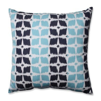 Neo Motif Aqua Throw Pillow Size: 24.5 x 24.5