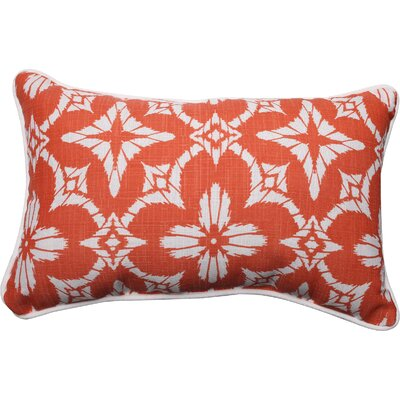 Aspidoras Indoor/Outdoor Lumbar Pillow Color: Coral, Size: 11.5