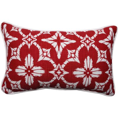Charisse Outdoor Lumbar Pillow Color: Apple - Red, Size: 16.5 H x 24.5 W