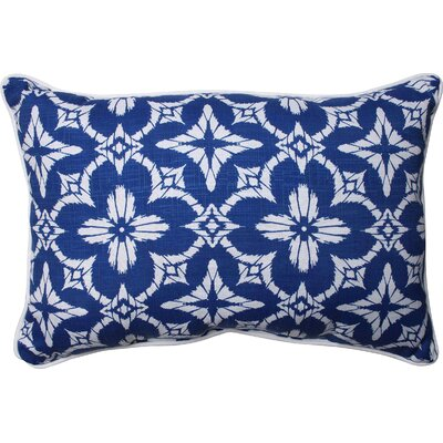 Charisse Outdoor Lumbar Pillow Color: Cobalt, Size: 11.5 H x 18.5 W
