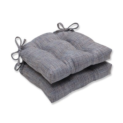 Tweak Gravel Reversible Chair Cushions Color: Bluestone