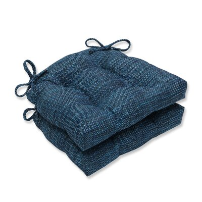 Tweak Gravel Reversible Chair Cushions Color: Azure