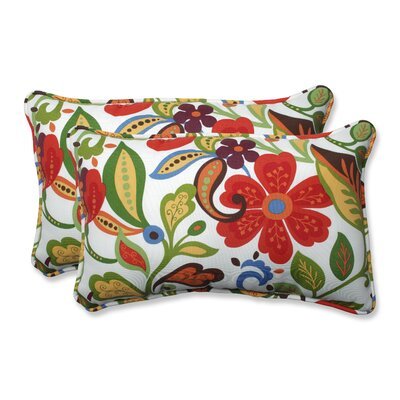 Indoor/Outdoor Wildwood Garden Lumbar Pillow