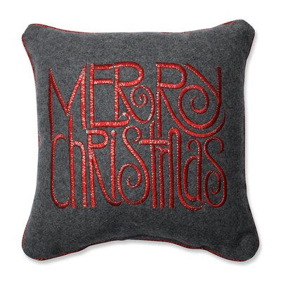 Merry Christmas Words 100% Felt Throw Pillow