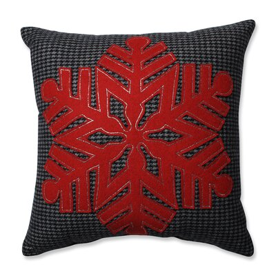 Single Snowflake 100% Felt Throw Pillow
