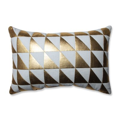 Glamour Triangle 100% Cotton Lumbar Pillow
