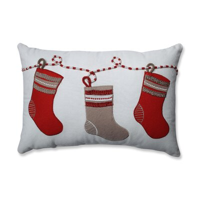 Country Home Stockings 100% Cotton Lumbar Pillow
