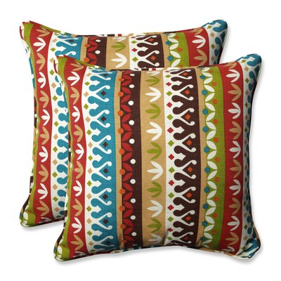 Cotrell Indoor/Outdoor Throw Pillow Color: Jungle