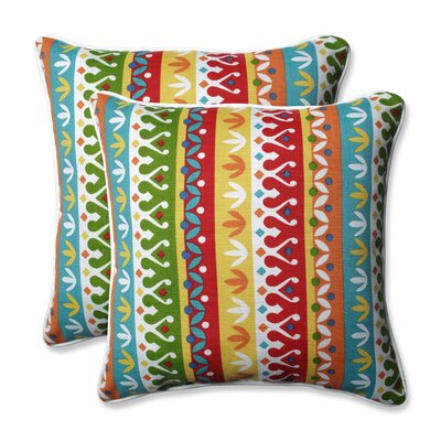Cotrell Indoor/Outdoor Throw Pillow Color: Garden