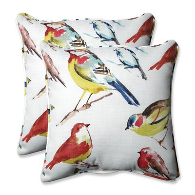 Pillow Perfect Outdoor / Indoor Bird Watchers Summer Throw Pillow (Set of 2) Size: 18.5 H x 18.5 W x 5 D