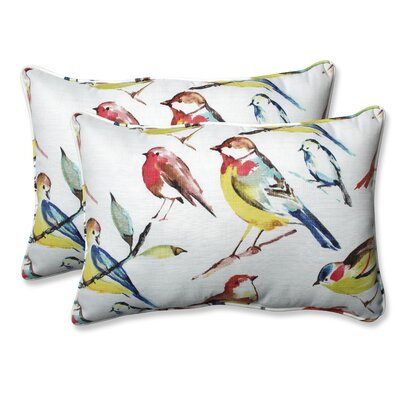Pillow Perfect Outdoor / Indoor Bird Watchers Summer Throw Pillow (Set of 2) Size: 16.5 H x 24.5 W x 5 D
